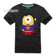Despicable Me Minions Super Hero Wolverine Batman Iron man Spiderman Captain America Hulk Thor Tee T-Shirt