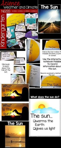 #Kindergarten #NGSS  K-PS3-1, K-PS3-2, K-ESS2-1, K-ESS3-2 Weather & Climate Unit (Sun, shade structures, forecasting, patterns in local weather, severe weather)