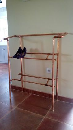 Elegant Copper Pipe Shoe Display Rack by MayolinIndustrial on Etsy