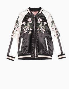 At Stradivarius you'll find 1 Reversible bomber jacket with embroidery detail for woman for just 22995  HUF . Visit now to discover this and more BOMBERS.