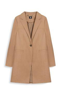 Camel Crombie Coat