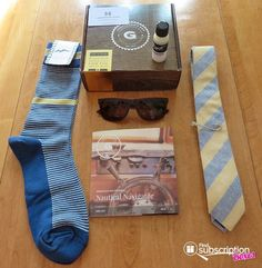 Denise unboxes the April Gentleman's Box! This month's Nautical Navigator box had stylish men's socks, sunglasses, fish hook tie bar and more! Check out her review and save $5 off your 1st box today! http://www.findsubscriptionboxes.com/a-closer-look/april-2017-gentlemans-box-review/?utm_campaign=coschedule&utm_source=pinterest&utm_medium=Find%20Subscription%20Boxes&utm_content=April%202017%20Gentleman%27s%20Box%20Review%20%2B%20Coupon  #GentlemansBox