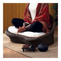 Meditation Space - Gaiam Rattan Meditation Chair ( I would LOVE to get one of these, one day...)