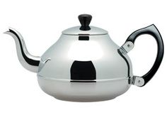 Sweet cup of tea<3....Ceylon Stainless Steel Teapot, 1.2L, by Bredemeijer