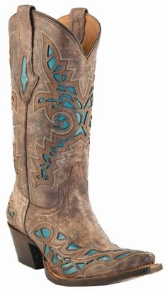 Lucchese Cowgirl Boots | Lucchese Since 1883 Desert Plato Calf with Turquoise Inlays M3571
