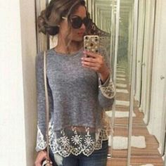 Womens new top small New top with lace small Tops Blouses