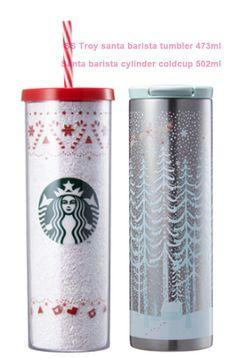 2016 Korea Starbucks Christmas MD 2 Troy santa barista tumbler cylinder cold cup #StarbucksKoreaChristmas2017