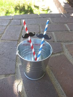Patriotic Mustache Straws  Red White and by MalibuandFlipFlops, $9.00