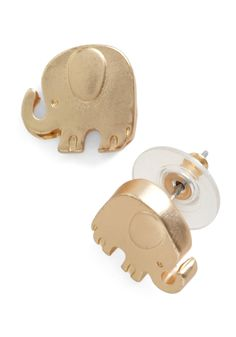 Pack Your Trunks Earrings. Any gal on the go has her list of travel musts - comfy but stylish knits, a big, multi-pocketed bag, and these darling earrings, of course! #gold #modcloth