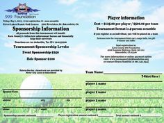Golf Classic Registration Form  Danielkids  Golf