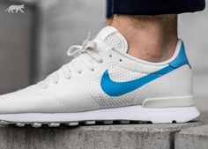 Nike Internationalist NS (Sail / University Blue - White) Nike Internationalist, Fashion Infographic, Sneaker Store, University Blue, Vacation Wear, Nike Shoes Outlet, Men's Style, Nike Free, Trainers