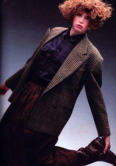 Dominque Issermann for Mademoiselle magazine, September 1984. Clothing by Ralph Lauren.