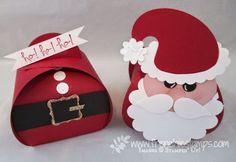 Punch Art Santa on Curvey Keepsake box