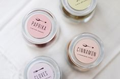 Cute Spice Labels.  http://www.mignonkitchenco.com/products/spice-labels