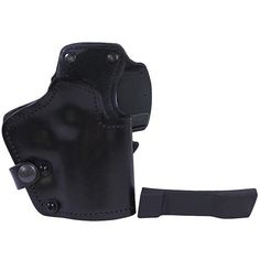 "3 Layer Synthetic Leather Belt Holster - 1911 Colt Commander with 4"" Barre, Black, Right Hand"