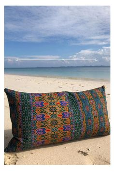 The latest handmade and limited cushion, taking inspiration from South East Asia. Vibrant mustard and green Borneo sarong fabric, a stunning edition to your home. Cushions On Sofa Color Schemes, Cushions For Grey Sofa, Living Room Cushions, Sofa Colors, Cushion Inserts, Sofa Cushion Covers, Homemade Pillows, Diy Cushion, Handmade Cushions