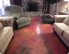 Staining your own concrete floors. I have considered doing this.