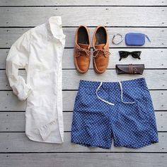 Men's outfit grid for summer - white oxford from Taylor Stitch Stylish Men, Stylish Outfits, Cool Outfits, Summer Outfits, Men Casual, Stylish Clothes, Style Masculin, Moda Blog, Look Man