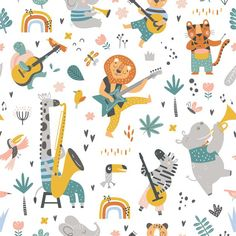 Pixel Pattern, Vector Pattern, Cartoon Jungle Animals, New Year Doodle, Abstract Animal Art, Hipster Accessories, Instruments, Word Patterns, Elephant Tapestry
