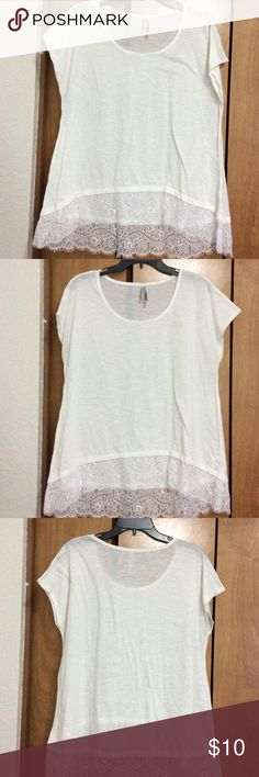White top White top with lace bottom Wallflower Tops Tunics