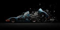 Fabian Oefner Explodes Iconic Cars To Create Stunning Art - UltraLinx