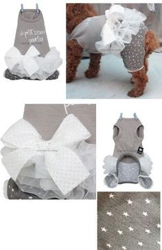 & when i do get a dog i will be the weirdo that dresses up my dog .. Designer Pet Apparel, Small Dog Clothes, Chihuahua Dog Clothing by Nicole Lebel