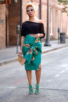 Image result for fur and african print