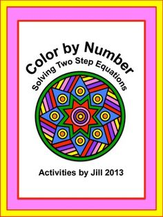 Make it more fun for your students to solve equations with this color by number activity!   Fifteen two step equations are included. The equations include negatives and fractional coefficients. All answers are integers and an answer key is included.  CCSS 7.EE CCSS 8.EE CCSS A-REI