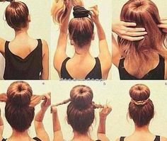 How to: Chignon bun, Ladyblitz.it   HERE'S THE CINDERELLA/BELLE BUN TECHNIQUE WE NEED :)
