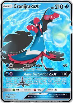 Cranijra GX (Mahat Region) Custom Pokemon Card Cool Pokemon Cards, Rare Pokemon Cards, Pokemon Trading Card, Pokemon Games, Pokemon Go, Pokemon Party Decorations, Papercraft Pokemon, Cool Pokemon Wallpapers, Pokemon Fusion Art