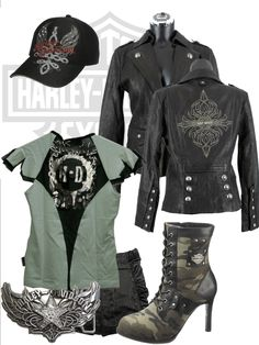 Outstanding Harley Davidson images are available on our web pages. look at this and you wont be sorry you did. Motorcycle Style, Biker Style, Motorcycle Gear, Lady Biker, Biker Girl, Harley Apparel, Biker Chick Outfit, Harley Davidson Kleidung, Harley Gear