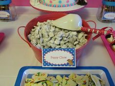Puppy Chow served with scoop, LURVE IT!