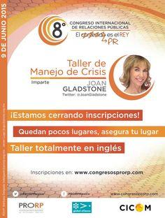 Joan Gladstone Presidente y CEO   Gladstone International, Inc. @JoanGladstone  Presente en #8congresoPRORP