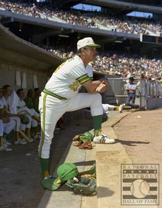 """He was the skipper of the 1967 Red Sox during their ""impossible dream"" season, and led the Oakland…"" Baseball Uniforms, Sports Uniforms, Team Uniforms, Baseball Photography, Baseball Star, Baseball Cards, American League, Oakland Athletics, Athlete"