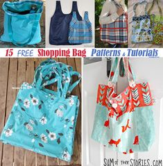 Threading My Way: Grocery / Shopping / Market Bags ~ 15 Free Tutorials