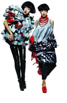 IFA Paris Student Work: Fashion school in Paris and Shanghai 2009 3d Fashion, Colorful Fashion, Work Fashion, Editorial Fashion, Fashion Looks, Fashion Design, Fashion Schools In Paris, School Fashion, Vetements Clothing