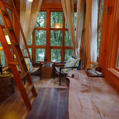 Downstairs in the Trillium TreeHouse