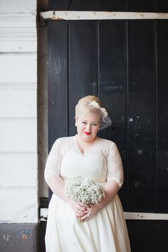 Love her style, dress and hair for wedding day!
