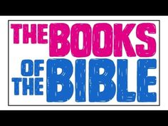▶ Books of the Bible Song, Readeez-Style - YouTube -- really nice.