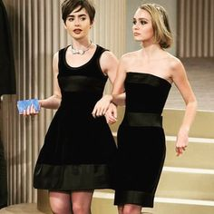 @lilyjcollins on our way to steal your girl... @chanelofficial