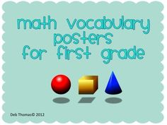 FREE  This is the first set of vocabulary posters created to go with the Common Core State Standards.