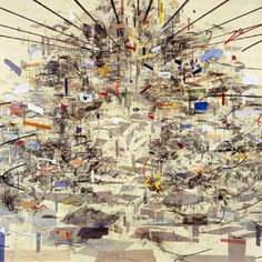 Julie Mehrten  I like how the artist made this piece look so chaotic but also look planned and put together at the same time.  11/13/2015
