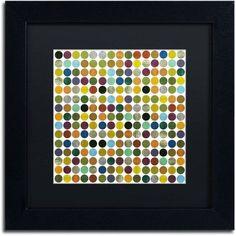 Trademark Fine Art Rustic Rounds 125 inch Canvas Art by Michelle Calkins, Black Matte, Black Frame, Size: 16 x 16, Orange