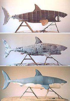Paper mache shark. Definitely on the to-do list