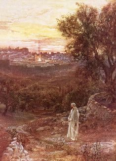 Jesus On The Mount Of Olives Painting