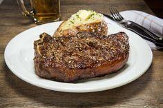 20 oz Bone-In Kansas City Strip Steak Served on the bone for extra flavour Strip Steak, Kansas City, Meat, Food, Essen, Meals, Yemek, Eten