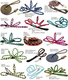 Paracord Dog Leash Examples