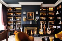 Home Music Rooms, Music Studio Room, Man Cave Room, Man Cave Music Room Ideas, Whiskey Room, Game Room Bar, Open Plan Kitchen Living Room, Dining Room, Study Room Design