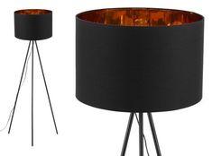 Tris Tripod-Stehlampe, Mattschwarz und Kupfer