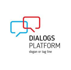 Download Vector Free Dialogs Platform Logo Template Design